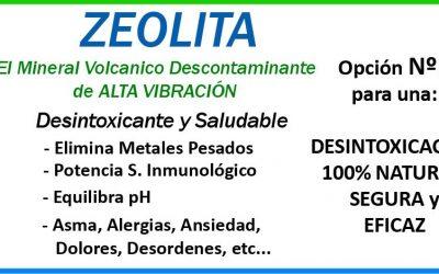 Zeolita, suplemento para eliminar metales pesados